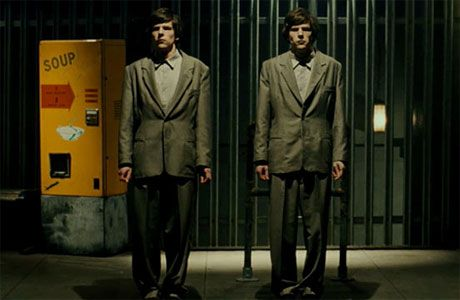 Two Jesse Eisenbergs are just enough in Richard Ayoade's adaptation of Dostoevsky's novella The Double / 2013