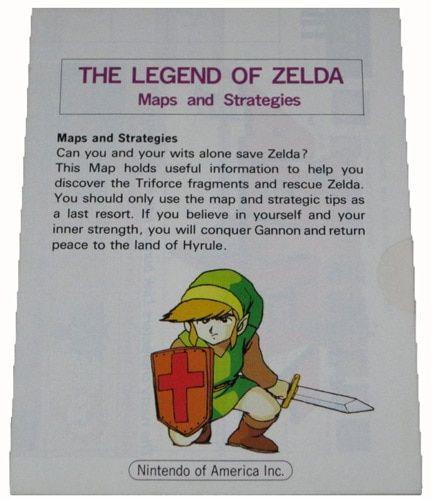 Legend of Zelda Maps & Strategies Booklet - NES Manual