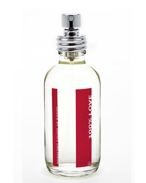100% LOVE S-perfume (valeriane, red currant, ivy leaves, Bulgarian rose, Turkish rose, musks, labdanum and cocoa)