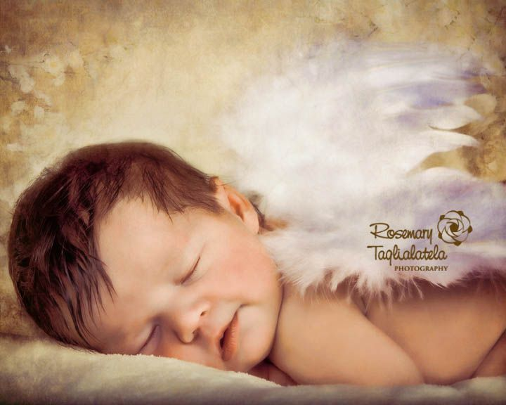 Baby, angel, portrait, artistic, painted, #Artistic baby photo #newborn photo session #newborn images