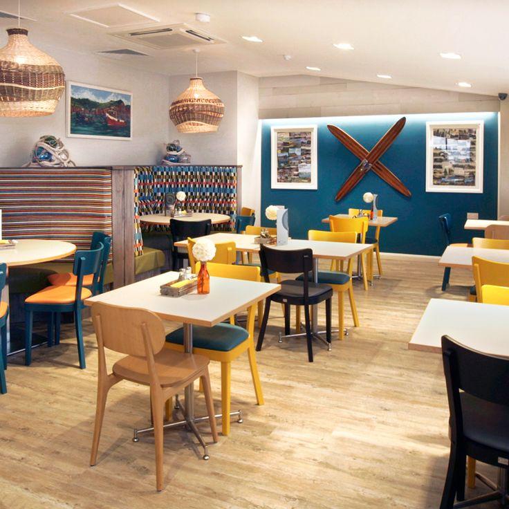 Seating area with nautical theme, Ladram Bay Holiday Park - Pebbles Restaurant, Devon, England