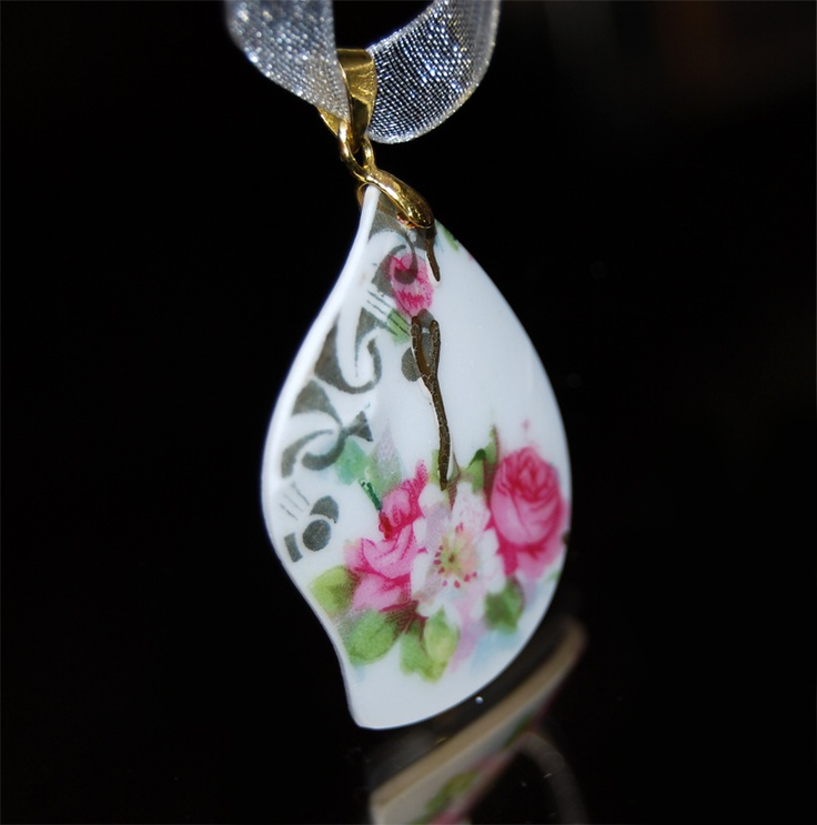 """wreath"" pendant  recycle of pieces of antique ornaments  save as jewellry for the future"