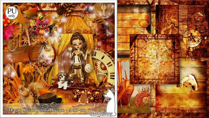 Add-on Magic steampunk dream by kittyScrap