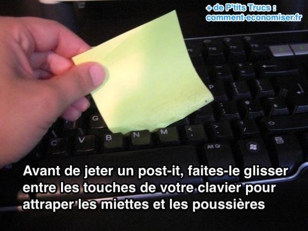 L'Astuce Pour Nettoyer Entre les Touches de Votre Clavier d'Ordi.