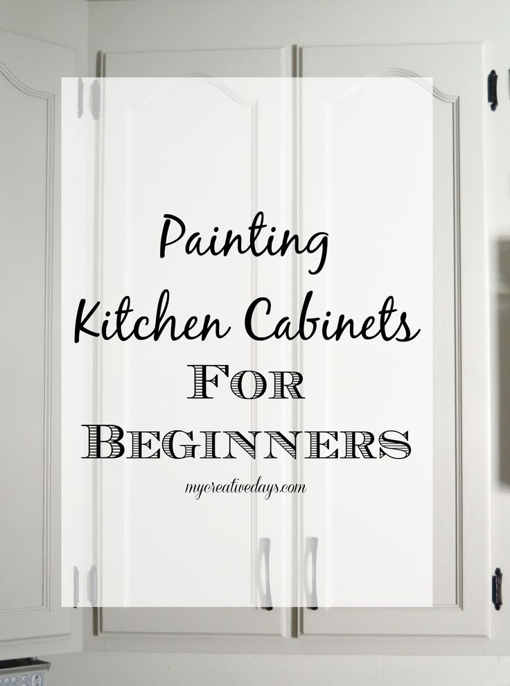 Kitchen Makeover : Tips For Painting Kitchen Cabinets For Beginners from My Creative Days