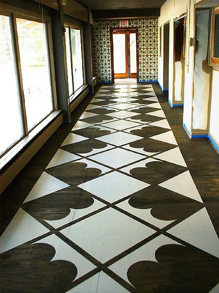 Example Of Big Graphic Painted On Hallway Floor I Want To
