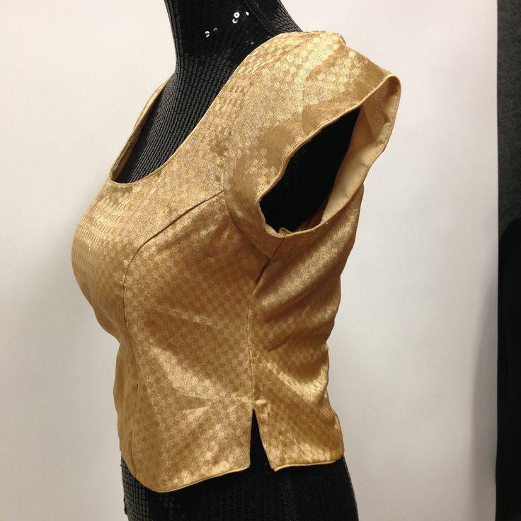 Brocade Long Kurti Blouse - Golden - 3