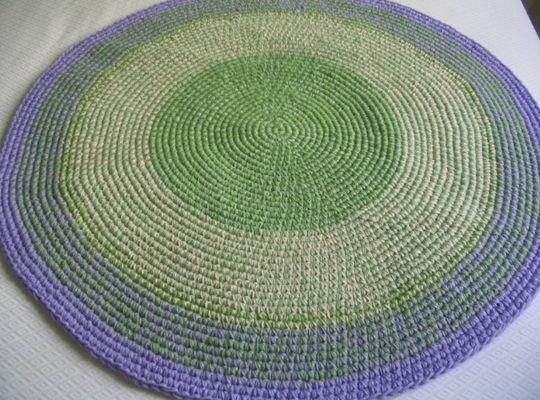 Alfombras redondas y ovaladas tejidas a crochet caminos - Alfombras redondas ...