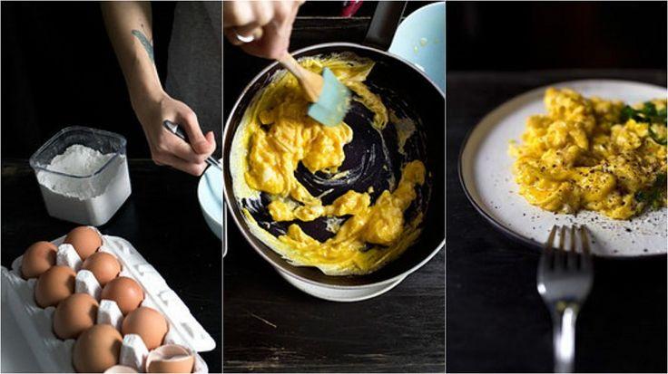 Добавляй немного кукурузного крахмала в яичницу или омлет, чтобы они получились более воздушными и нежными. Кроме того, такой трюк спасет блюдо от подгорания.