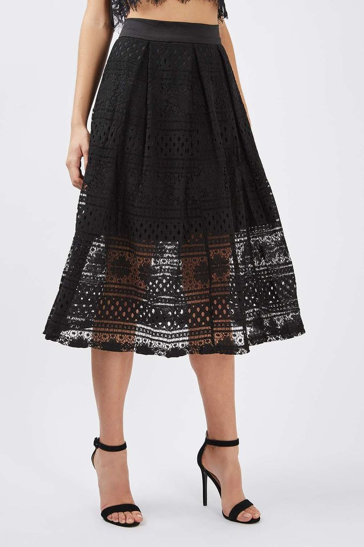 **Lace Midi Skirt by Oh My Love - Skirts - Clothing - Topshop