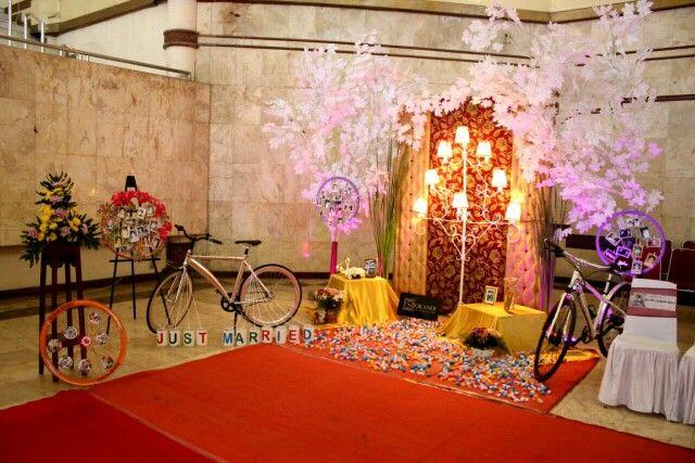 Bike theme party decoration
