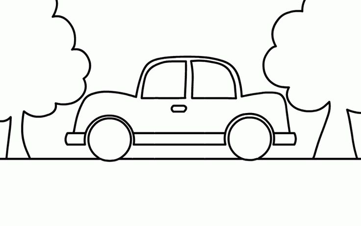 This Car Coloring Page The Very Simple Easy Paint Color