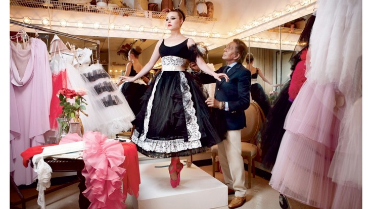 Mr. Valentino designs costumes for the nyc ballet