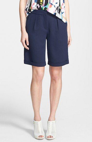 Rebecca Minkoff 'Nathan' Crepe Bermuda Shorts available at #Nordstrom