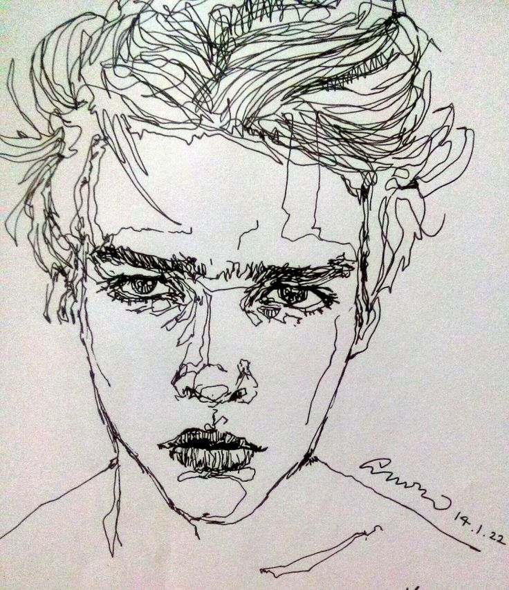 I like this portrait because it is made up of a single, continuous line yet it…