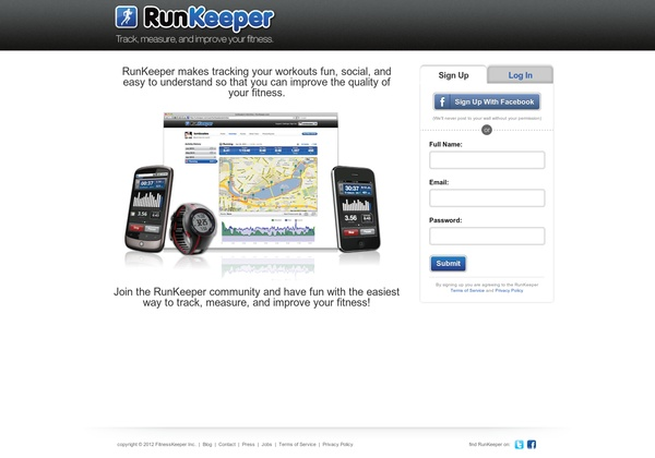 RunKeeper makes tracking your workouts fun, social, and easy to understand so that you can improve the quality of your fitness. http://runkeeper.com:  Internet Site, Workout Fun,  Website, Web Site