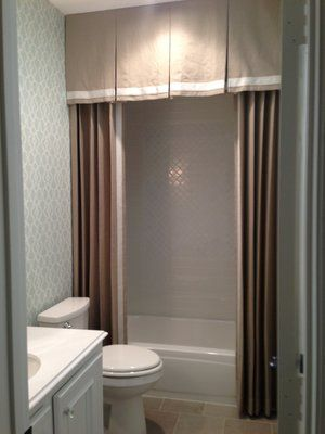 Custom shower curtain with valance