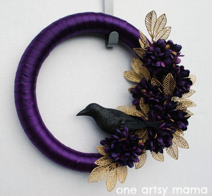 Ravens Wreath | One Artsy Mama