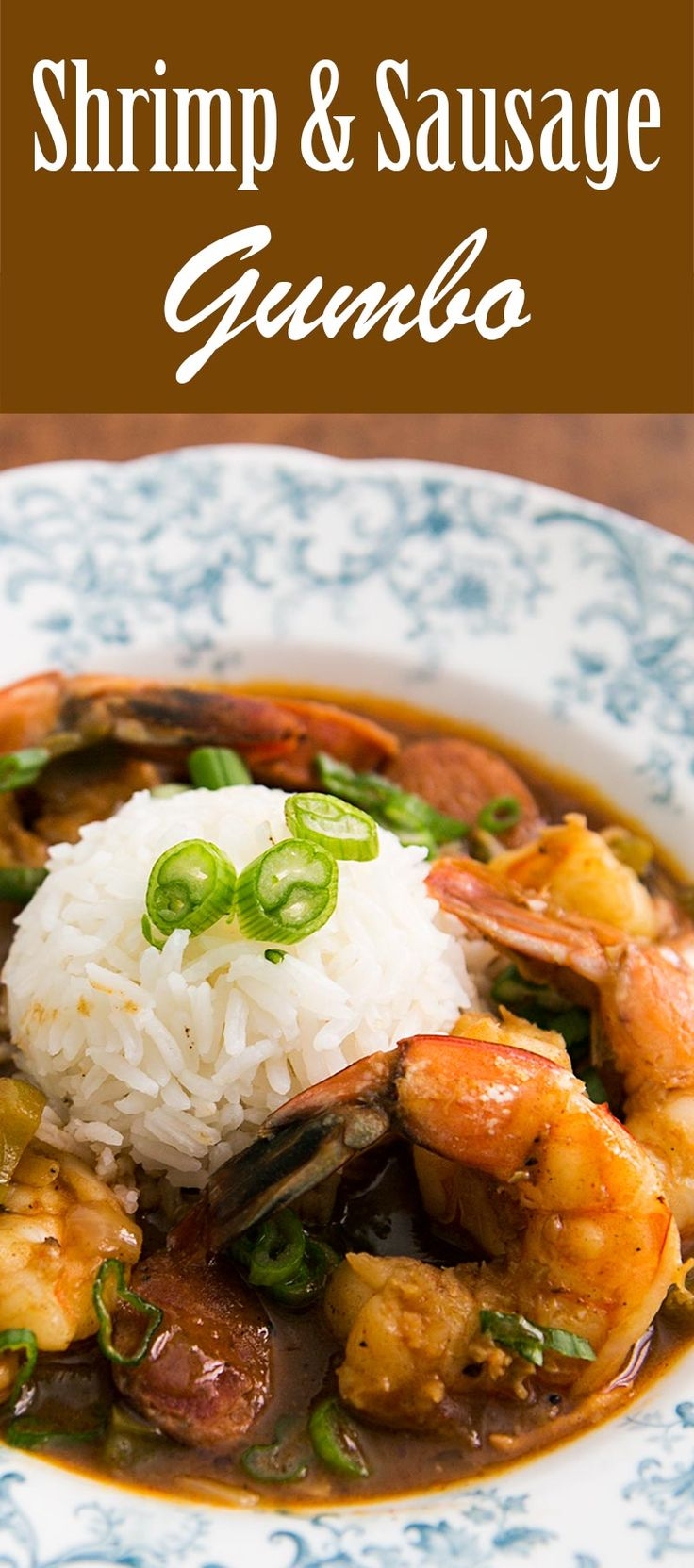 Cajun style shrimp gumbo with andouille sausage. Perfect for Mardis Gras!
