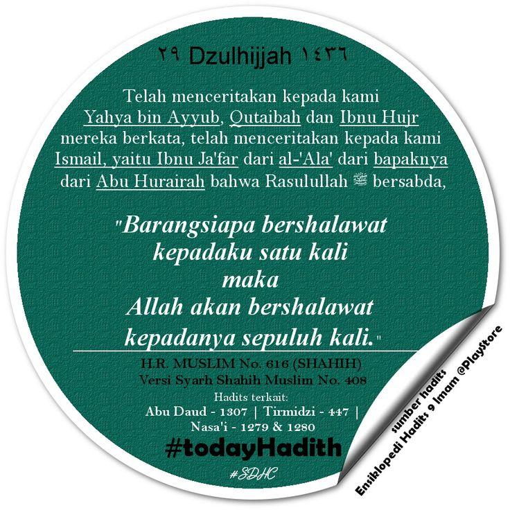 Bismillah   اللَّهُمَّ صَلِّ عَلَى مُحَمَّدٍ ، وَعَلَى آلِ مُحَمَّدٍ   #TodayHadith #hadisshahih #Muslim616 #hadits_hari_ini #29Dzulhijjah1436H #hijriahdate #hijriahcalendar #shalawat #muhammadsaw #Rasulullah #sharingiscaring #dakwah #muslim #life #sunnah #ISLAM #pictoftheday #latepost