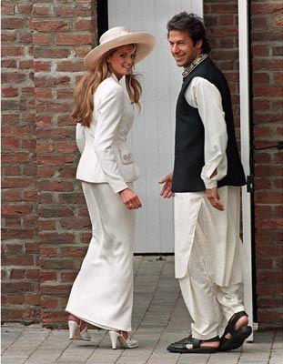 Imran and Jemima on wedding day