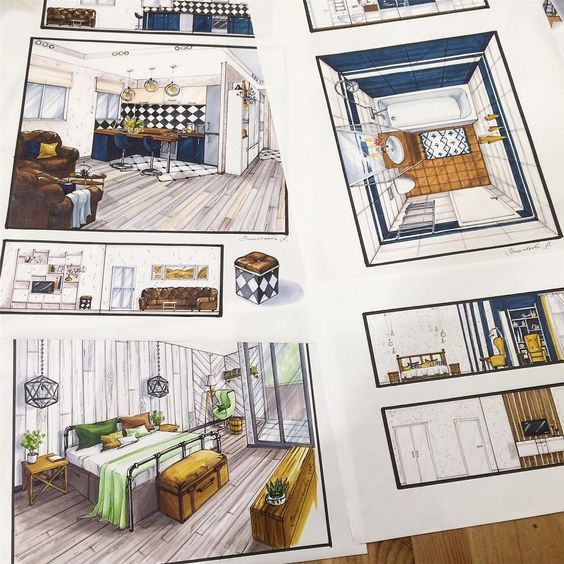 82 best Interior Design Drawings images on Pinterest Interior