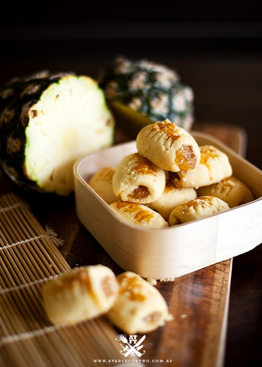 Pineapple Tarts, a festive treat and a must-have in many households during Chinese New Year and Hari Raya. Singapore, Malaysia and Indonesia.