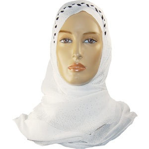 Igal Hijab - White & Black with Silver Design http://www.muslimbase.com/clothing/hijabs/igal-hijab/igal-hijab-white-black-with-silver-design-p-3732.html