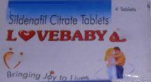 LoveBaby 100mg Sildenafil Citrate Tablets 4/per Blister www.macromass.us