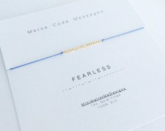 Gold Filled Morse Code Bracelet by MadelynJadeDesigns on Etsy