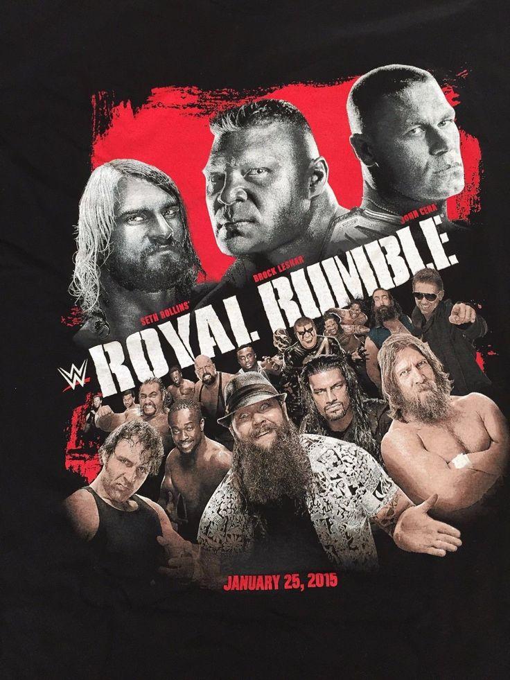 2015 Royal Rumble T-Shirt L Large WWE Seth Rollins John Cena Brock Lesnar NXT - https://bestsellerlist.co.uk/2015-royal-rumble-t-shirt-l-large-wwe-seth-rollins-john-cena-brock-lesnar-nxt/