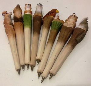 Penna legno animale del parco scolpito idea regalo  | eBay