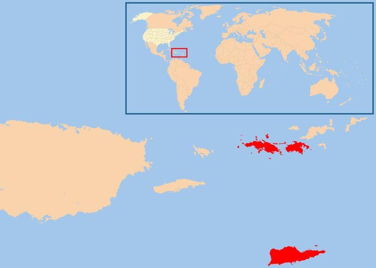 Map of USA highlight Virgin Islands ◆Îles Vierges des États-Unis — Wikipédia http://fr.wikipedia.org/wiki/%C3%8Eles_Vierges_des_%C3%89tats-Unis #US_Virgin_Islands