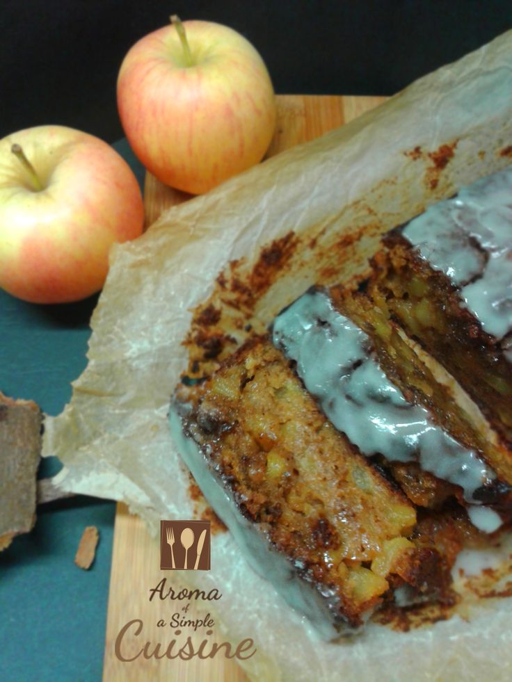 Aroma of a Simple Cuisine ~ Apple cake with cinammon & sour milk