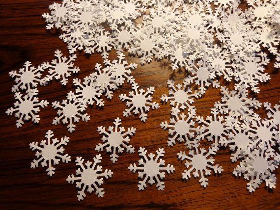 100 White Winter Snowflake paper punch die by SewPrettyInVermont, $3.50