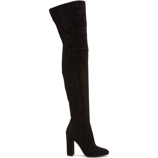 Gianvito Rossi Over The Knee Suede Boots ($2,195) ❤ liked on Polyvore featuring shoes, boots, footwear, over-the-knee boots, black thigh high boots, over the knee high heel boots, black suede boots, black boots and over-knee boots