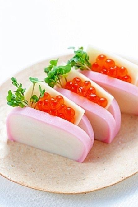 おせち料理にもう一品!新年会で役立つ激カワ料理 - Locari(ロカリ) 主な材料は、かまぼこ・チーズ・いくら・スプラウトなど。