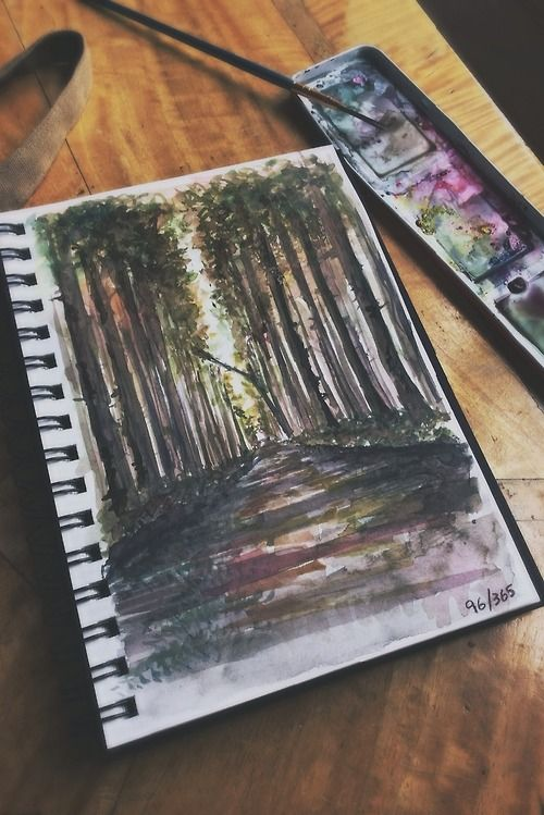 This summer is like to carry a watercolor journal around. And paint.
