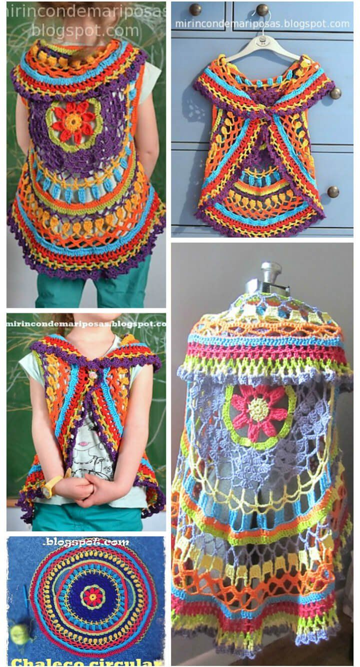 Stylish Crochet Circle Shrug Bordurenhaken In 2018 Pinterest
