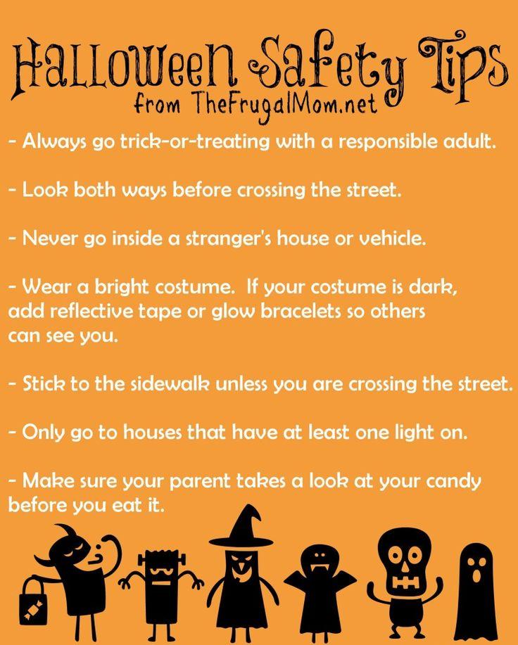 Halloween Safety Tips Fall Ideas Pinterest Halloween