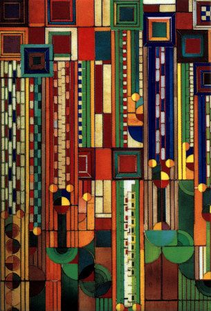 Saguaro Glass. Frank Lloyd Wright.