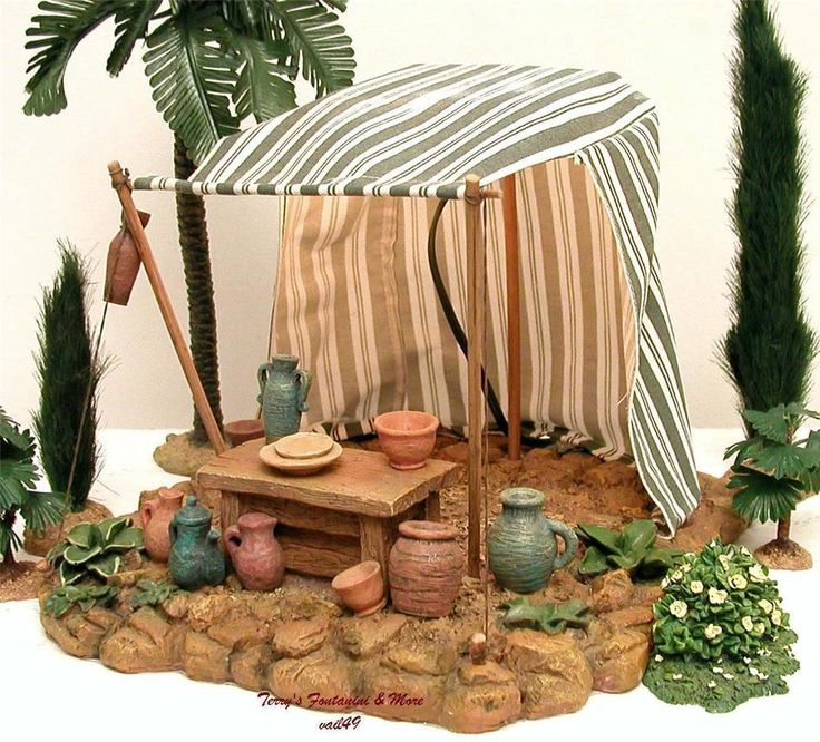 """FONTANINI ITALY EARLY 5""""POTTERY STAND VILLAGE NATIVITY 90th ANNIVERSARY EXCL MIB in Collectibles, Decorative Collectibles, Decorative Collectible Brands   eBay"""
