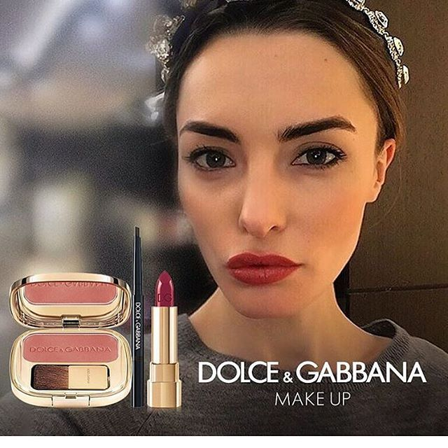 @damaronak  #DGBeauty look with a hint of The Blush, intense pink Classic Cream Lipstick and The Brow Liner. #Dgwomenlovemakeup #ordinarypeople ❤️❤️❤️❤️