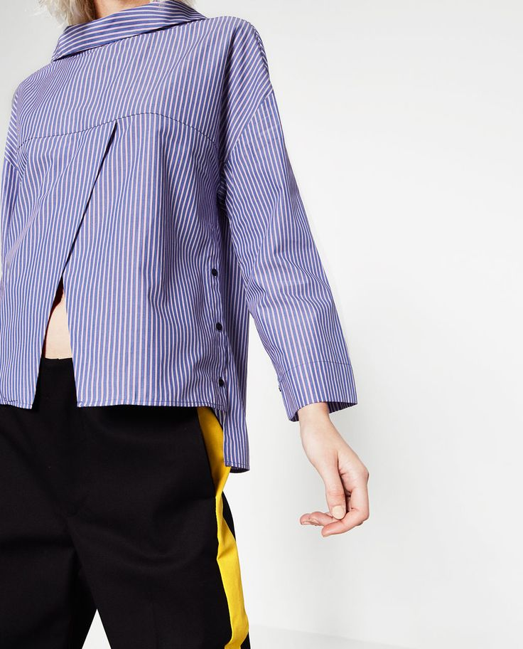 CROSSOVER STRIPED TOP-TOPS-TRF | ZARA United States