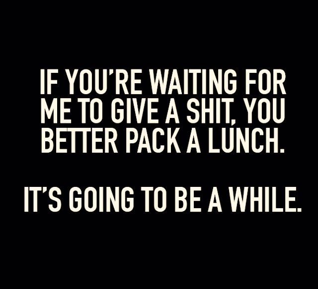 Pack a lunch lol