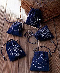 Sashiko-little bags