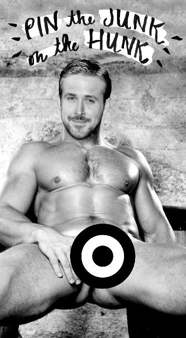 NSFW Ryan Gosling Pin the Junk on the Hunk by junkshopco
