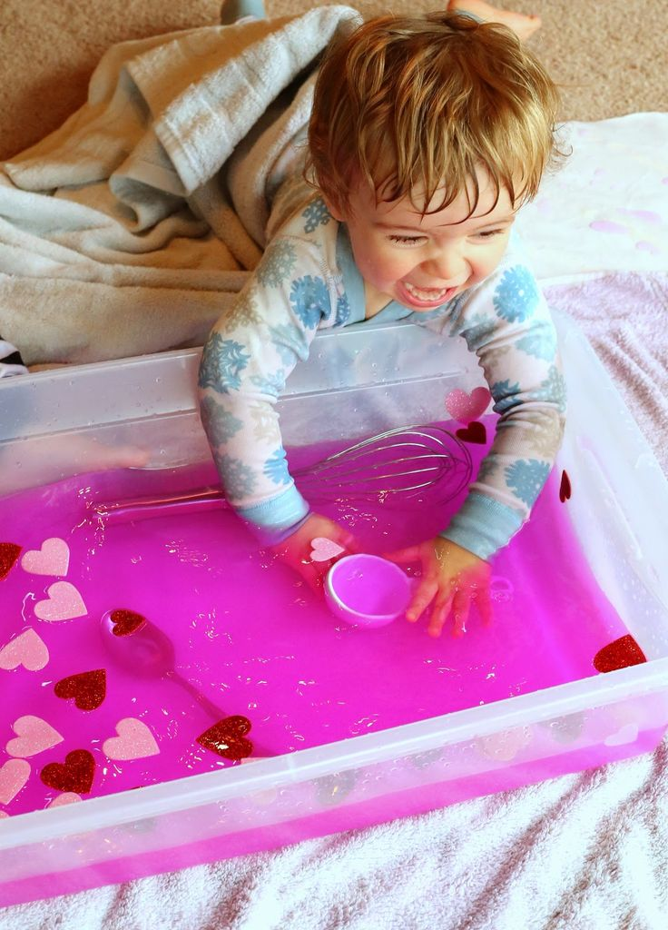 Toddler Sensory Play:  Valentine's Day Soup from Fun at Home with Kids. Repinned by  SOS Inc. Resources http://pinterest.com/sostherapy.