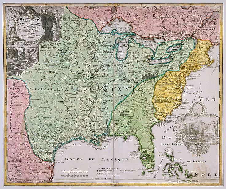 Print Map Of Louisiana Mississippi After 1718