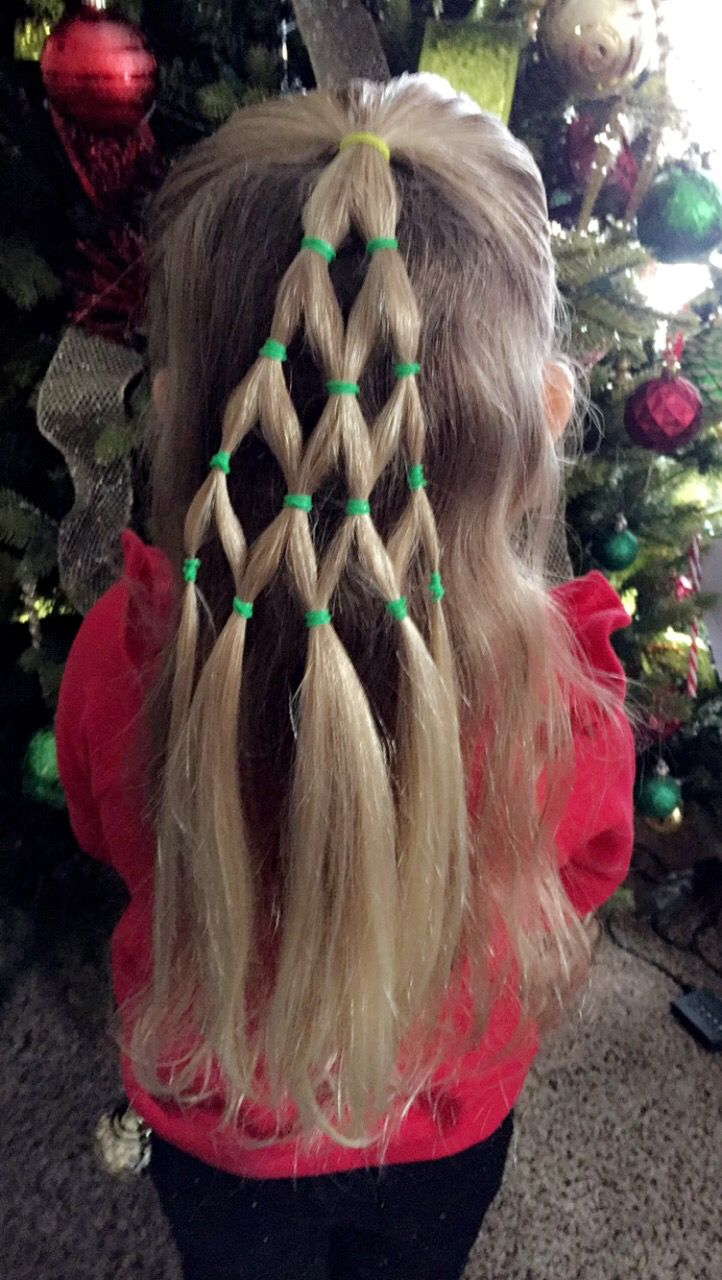 Christmas Tree Hair Christmas Tree Hair Style Christmas Tree Hair Kids Hairstyles